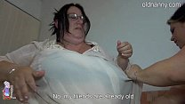Old fat women f ucking it bed