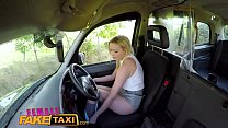 Female Fake Taxi First Taxi Creampie For Busty Blonde Milf Amber Jayne