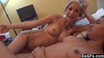 Threesome with petite milf and a hot ass black pornhub video