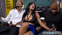 Spizoo - Latin Milf Gabby Quinteros is punished by Two BBC, big boobs & big booty