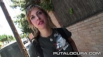 Claudia the beautiful blonde caught on the street
