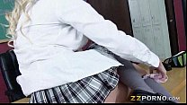Busty schoolgirl Sienna Day pussy banged in the classroom