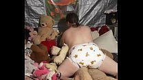 Diaper sissy humping teddy bear