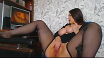 Curves girl masturbating when watching porn thumbnail