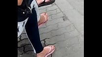 candid feet in flip-flops VID 20180626 150317031 HD preview image