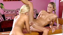Beautiful blondes Paula and Aloha lesbian fun in Loving Lappers Vorschaubild