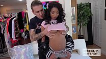 Hot young ebony babe gets destroyed by hookup hotshot Preview