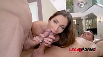 Image: French Slut Clea Gaultier Takes 2 Big Dicks in her ass   DP for the 1st time!!