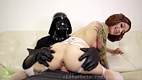 Leia gets Darth Vader's dick in holes