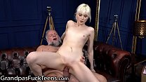 GrandpasFuckTeens Cute Delivery Girl Have A Pounding Time While Waiting
