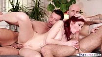 Anally screwed stud cocksucked by redhead