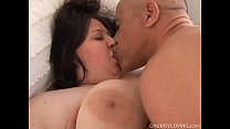 Bubbly big tits BBW loves to fuck and sticky facial cumshots