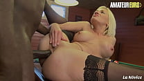 AMATEUR EURO - (Cameron St. Claire & Eddy Blackone) French Ass MILF Takes BBC On Pool Table
