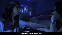 Teen Step Daughter Lily Moon Fucked By Step Dad In Front Of Masturbating Bff Kelsey Kage During Sleepover image