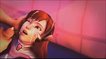 Overwatch D.va Blowjob And Cumshot HD