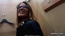 Charming czech sweetie was seduced in the mall and poked in pov pornhub video