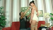 MILF mom helps him with his first fuck