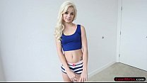Skinny blonde stepsis Elsa Jean smashed by big ...