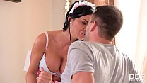 Busty babe Jasmine Jae gets her deep & hard double penetration in today