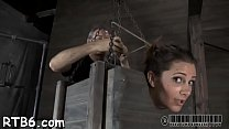 Lovely playgirl taken out from cage for hardcore punishment