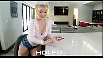 HOLED Quirky blonde card player Velvet Rain gets her tight booty fucked