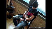 Teen Boy Gets Horny And Strokes His Nice Dick