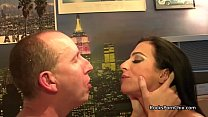 Cum kissing after big cum in mouth after rimming and footjob preview image