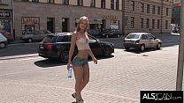 Sexy Babe Sports Painted On Outfit in Public thumbnail