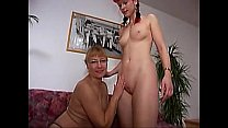 Old and young lesbians image