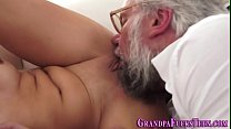 Teen spermed by old perv Preview