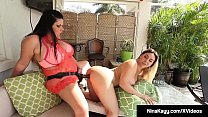 Cock Hungry Nina Kayy StrapOn Fucked By BBW Ang...
