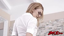 Lovely blonde schoolgirl Alexa Grace getting drilled deep