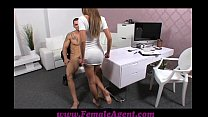 FemaleAgent Sexy stud disappoints beautiful agent preview image