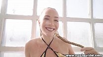 The gorgeous Latina rides  the giant cock,  and Nacho spurts his seed onto Paola's perfect booty.