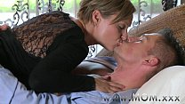 Mom Mature Brun ette Rides His Cock Cock