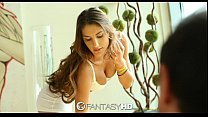 FantasyHD - August Ames sits on her mans face a... Thumbnail