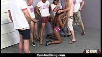 Black chick gets gangbanged by a group of white guys 28's Thumb