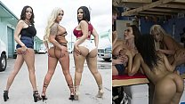 Brandi Bae, Arielle Ferrera and Rose Monroe In Orgy to get the Car Back