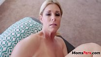 Son massages mom & she massages his balls porn thumbnail