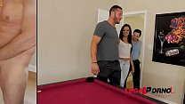 Father and son give sexy pornstar Jynx Maze's s...