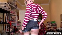 Petite blonde Miley May gets fucked hard by an gigantic dick - 9Club.Top