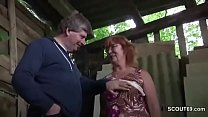 German Milf Mom and Dad Fuck Outdoor on farm Preview