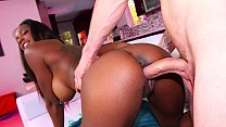 Hot black babe gets fucked by a white cock