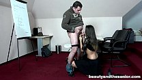 Fresh brunette teen Cindy gets fucked by old Phillipe Image