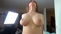Pale redhead in stockings gets creampied - Amadani's Thumb