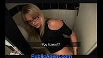 PublicAgent Blonde cafe waitress fucks in the s...