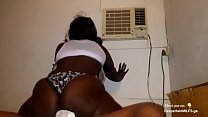 Fat Ass Ebony Babe Riding BBC In Summer Heatwav...