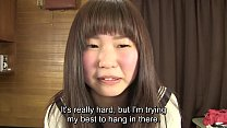 Subtitled Japanese schoolgirl pee desperation game in HD صورة