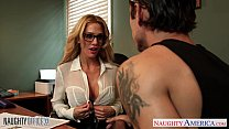 Tattooed blondie Sarah Jessie fuck in the office Thumbnail
