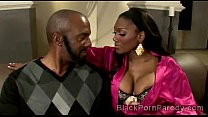 Big stacked ebony beauty sucks huge black dong in this parody video